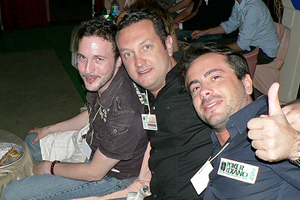 Me with the Poker Texano boys at the WPT welcome dinner