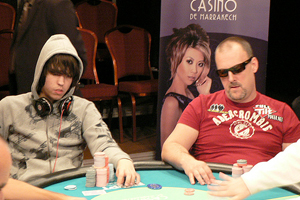 The Hendon Mob's Ross Boatman and second place finisher, Germany's Dominik Nitsche at the WPT Marrakech High Rollers event